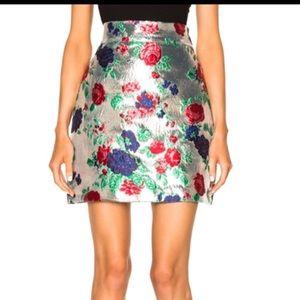 MSGM Silver Mini Skirt, Medium, NWOT